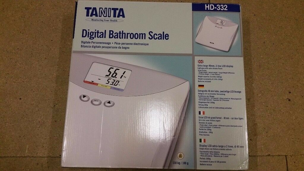 Brand new digital bathroom scales-with batteries