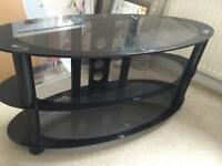 TV Stand, black oval