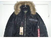 Breitling deflector black coat large alpha industries