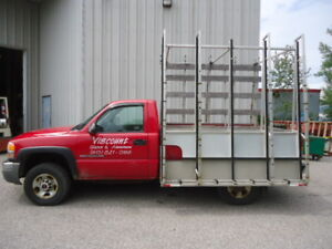 2005 GMC Sierra 2500 Pickup Truck With Glass Rack