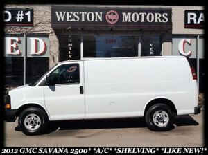 2012 GMC Savana 2500 *A/C*SHELVING*LIKE NEW!*