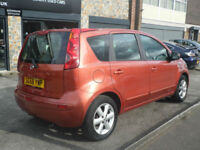 2008 Nissan Note 1.4 16v Acenta 5DR 58 REG Petrol Orange