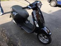 PIAGGIO VESPA PRIMAVERA 50cc black 64 reg 2014 low mileage hpi clear!!