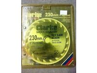 "Clarke TCT Saw Blade - 230mm/9"" nominal - New in packaging"