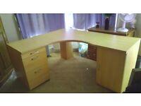 Large Corner Desk With File Storage
