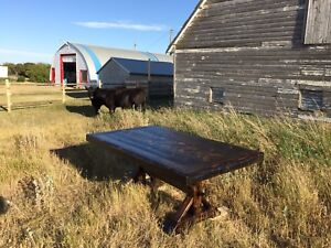 Rustic Farmhouse Table - Reclaimed Lumber