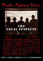 Murder Mystery Dinner - The Usual Suspects