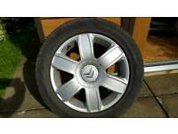 CITROEN 16 INCH ALLOY WITH TYRE AND CENTRE CAP