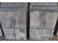 "Delabole roofing slates. Slate and a half size 24""x18""."