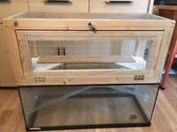 Glass Hamster/gerbil/mouse tank/cage