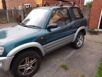Low mileage, decent 4 x 4 Toyota Rav4 2L, good reliable runner . Bargain price for quick sale