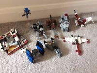 Collection of Lego Star Wars sets