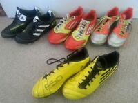 FOOTBALL: Boys Adidas Boots - size 2, 4 & 5