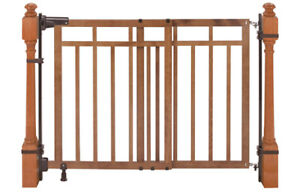 Summer Infant top of stairs banister baby gate