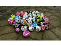 45 mixed array of sports balls