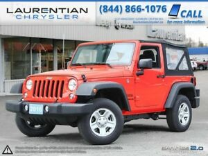 2016 Jeep Wrangler Sport-2-DOOR-MANUAL TRANS!