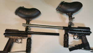 R.A.S. Paintball Markers (2) Excellent Condition + accessories
