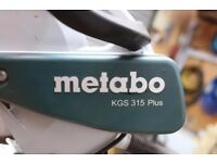 Metabo KGS 315 Plus Chop Saw and stand