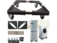 Heavy Duty Adjustable Extendable Moveable Fridge Washing Machine Roller Trolley