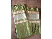 DUNELM MILL GREEN CURTAINS LINED 168x229 cm VGC CAN POST