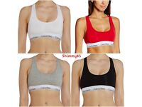 BRAND NEW WITH TAGS Calvin Klein Bralette Bra CK Black White Gray Red S M *CLEARANCE SALE*