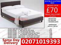 BRAND NEW DOUBLE LEATHER BED AND MATTRESS Baileyville