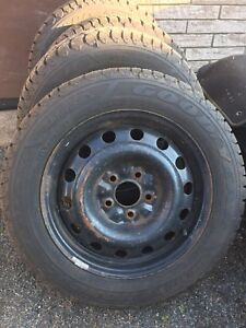 Studded Winter tires and steel rims!