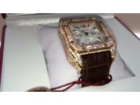 Rose Gold diamond cartier Watch