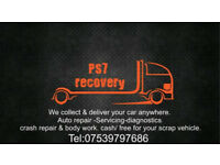 Car recovery breakdown transports