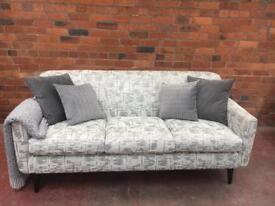 New Sofology Grey Sofa - RRP £899 - Can Deliver