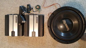 Car Audio Pioneer Subwoofer and Amps