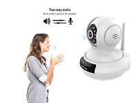 Wireless WiFi IP cctv Camera with 2 way voice Audio mic Night Vision, Motion Detection