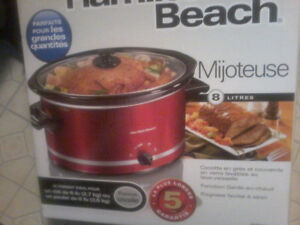 Hamilton Beach 8 litre New Crockpot