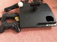PlayStation 3 with accessories and games