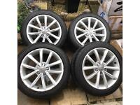 Audi tt alloy wheels 17inch with tyres