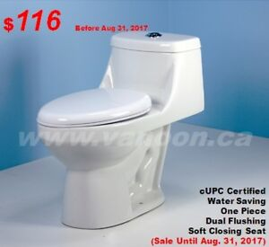 One Piece Toilets from $116, Vanities, Showers, Faucets and More