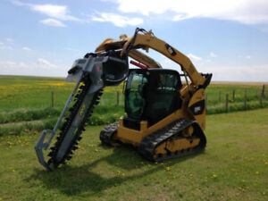 4FT Baumalight Skid Steer mount trencher