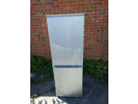SILVER FRIDGE FREEZER A+ ENERGY 203 LITRES FREE DELIVERY
