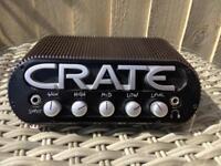 Crate Power Block. All purpose 150 Watt Mono or 75 Watt per side stereo solid state amp.