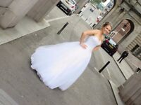 Wedding dress, White, Princess