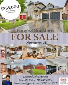 NEWMARKET HOME FOR SALE ! AMAZING PRICE AND GORGEOUS HOME!