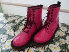 bright pink boots
