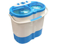 Portable Twin Tub Washing Machine Spin Dryer Camping Caravan Motorhome Boat Tent As New £80 ono