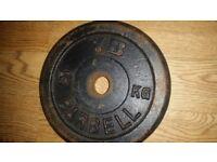 6x 5kg metal weight plates 30kg
