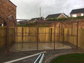 Solid steel garden shed frame