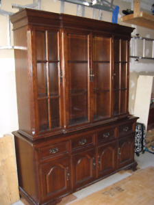 Gibbard buffet and hutch cherrywood