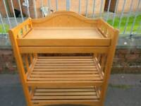 Pine mamas and papas baby changing station