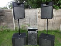 Peavey PA Speakers Amp and Mixer