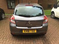 2011- Renault Clio GREY I-Music , 5 doors, petrol, manual .