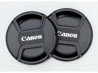 JOB LOTS OF 62MM CENTRE PINCH LENS CAPS FOR CANON LENSES